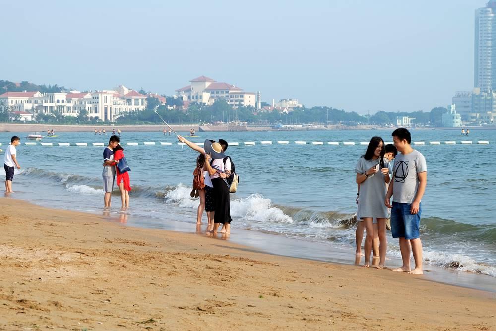 5 Badestrand Nr. 1 Touristen Qingdao Shandong China