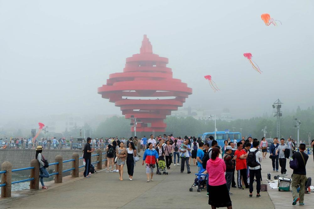 7 Promenade Platz des 4. Mai Skulptur Wind im Mai Qingdao Shandong China
