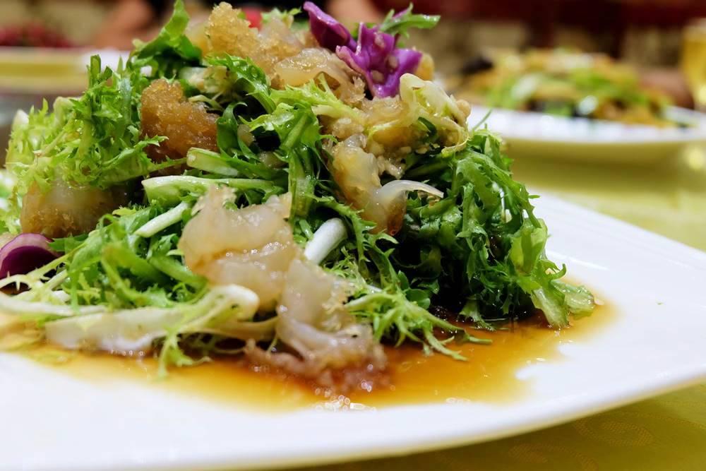 7 Qualle Salat Essen Shandong China