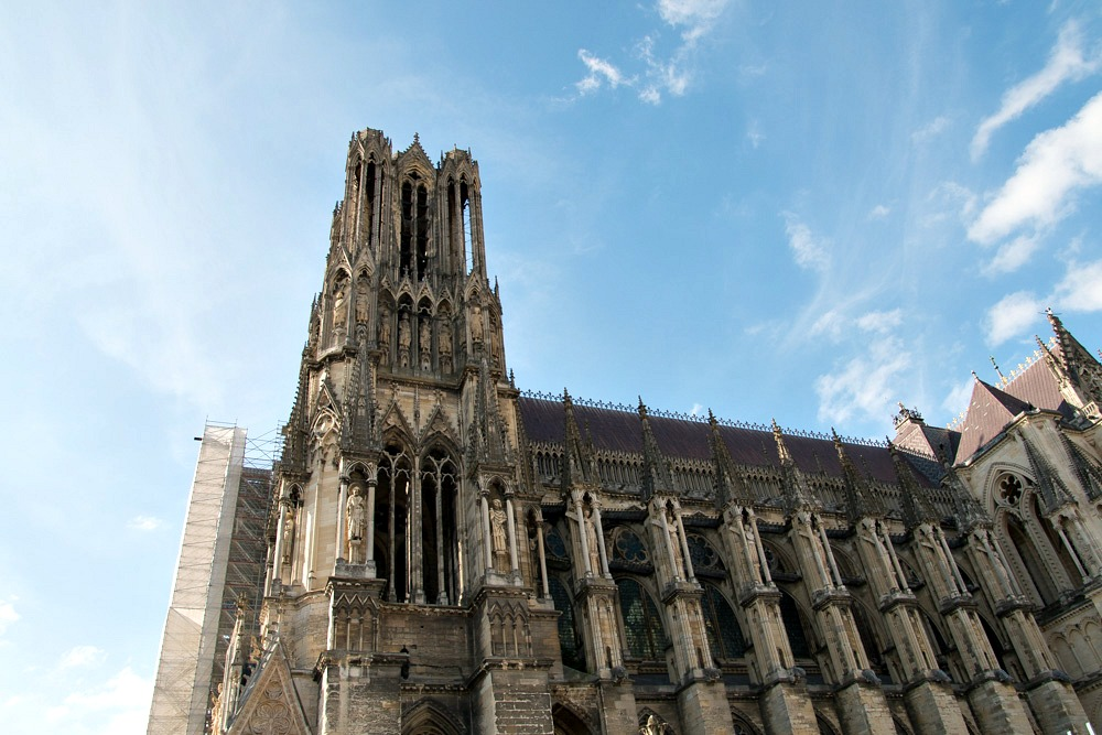Kathedrale Notre-Dame Gotik Kirche Reims Frankreich