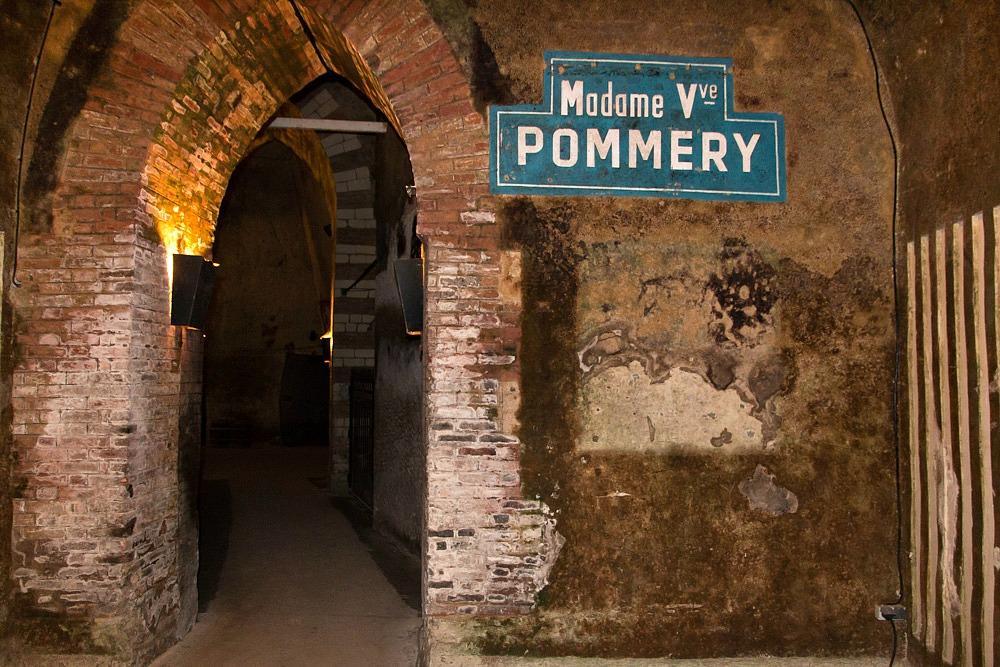 Weinkeller Champagner Pommery Reims Frankreich