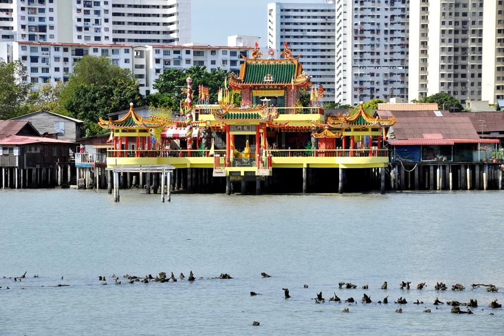 17 Tempel Hean Boo Thean Kuan Yin von Clan Jetties aus George Town Penang Malaysia