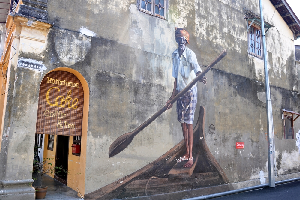 4 Street Art George Town Insel Penang Malaysia