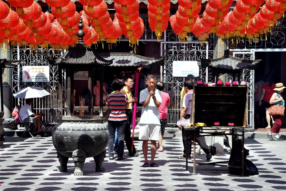 5 Lampions Kuan Yin Teng Tempel George Town Penang Malaysia