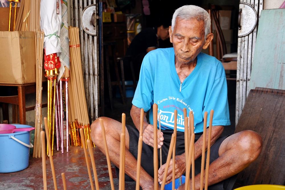 7 Räucherstäbchen George Town Penang Malaysia