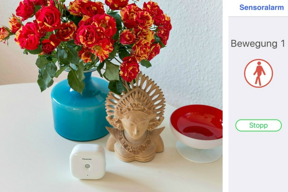 Panasonic Smart Home Bewegungssensor Urlaub Reisen Hausüberwachung