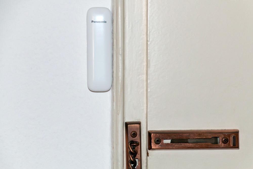 Panasonic Smart Home Türsensor Urlaub Reise Hausüberwachung