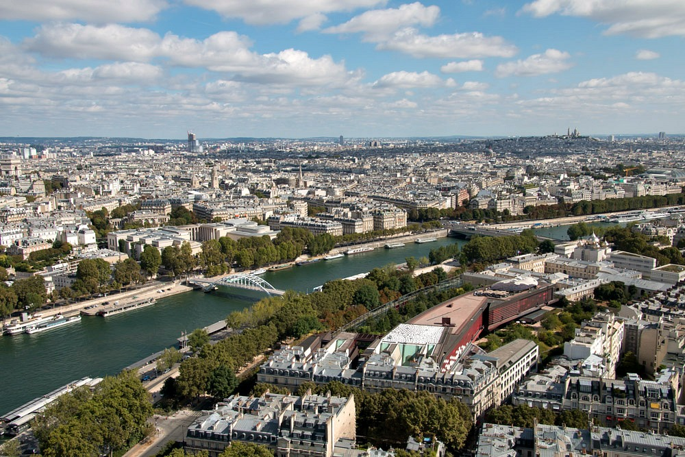 Paris Ausblick Eiffelturm Sommer