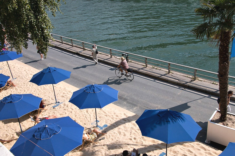 Paris Plages Stadtstrand Strand Beach Seine