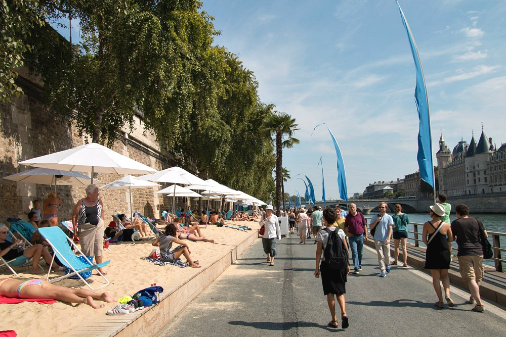 Paris Plages Stadtstrand Strand Beach Seine Sommer