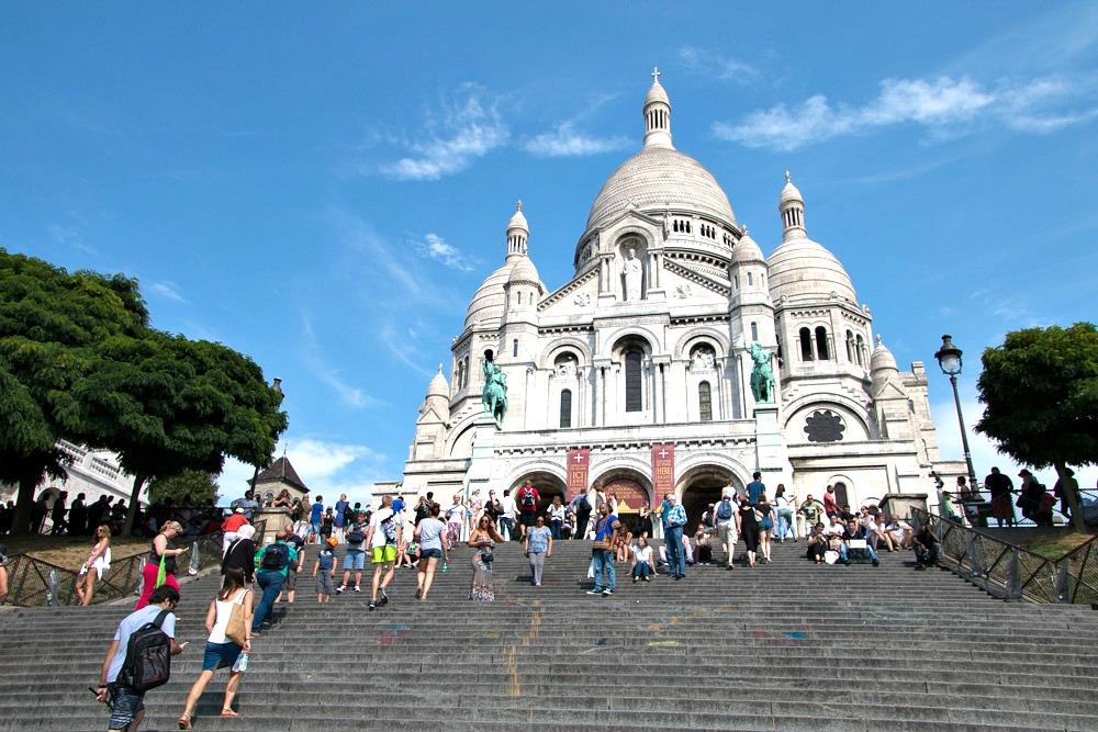 Paris Sacre-Coeur de Montmartre Sommer