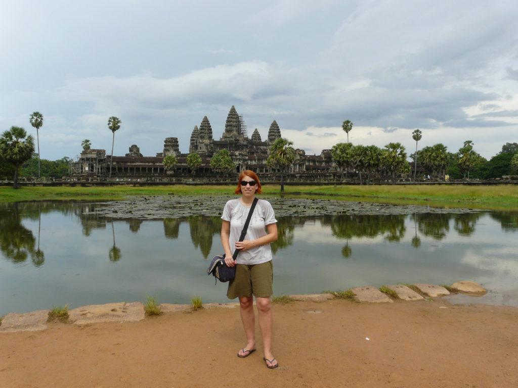 1 Jahr Weltreise: Reiseblogger Anja Beckmann in Kambodscha, bei Angkor Wat