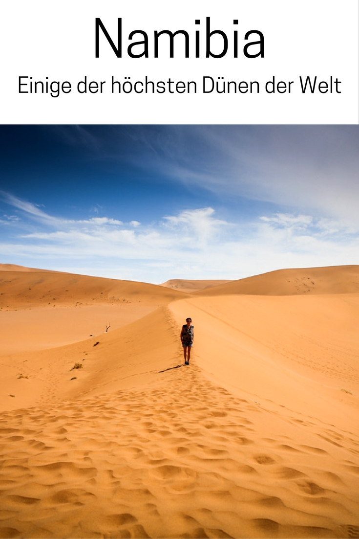 Namibia, Afrika: Einige der höchsten Dünen der Welt sind Big Daddy und Dune 45 in der Namib Wüste. Lest mehr dazu im Reiseblog!
