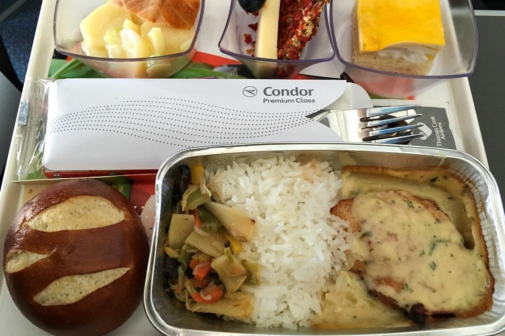 Premium Menü bei Condor