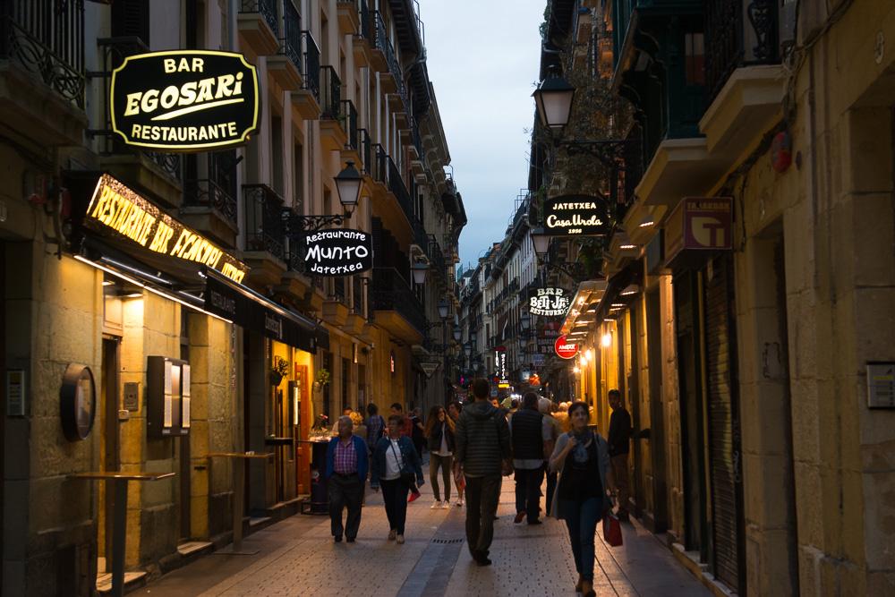 Abends in San Sebastián