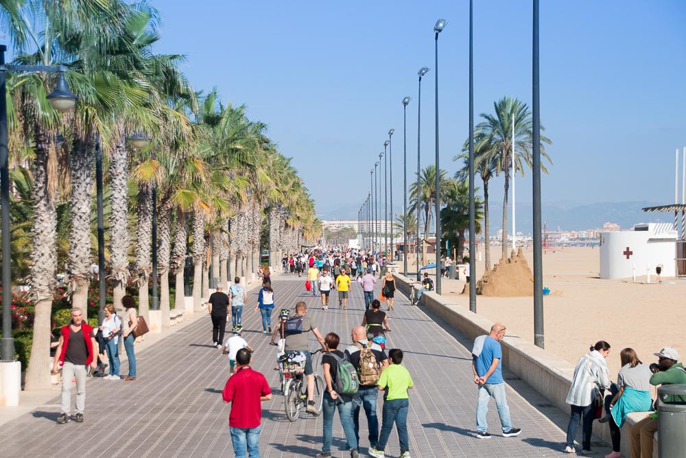 Strandpromenade von Valencia
