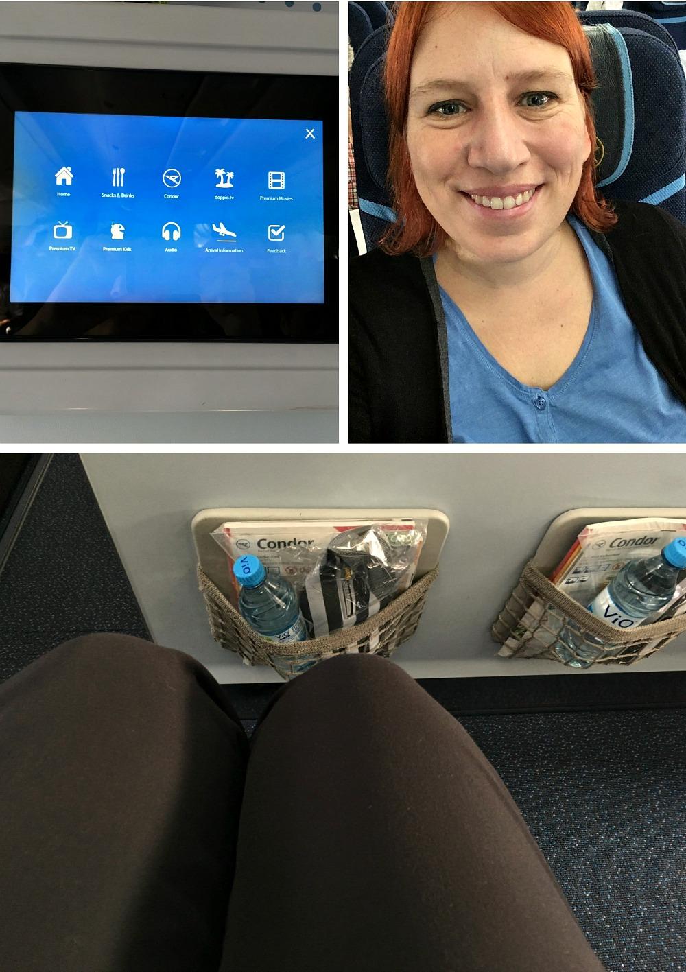 Reiseblogger Anja Beckmann in der Condor Premium Class