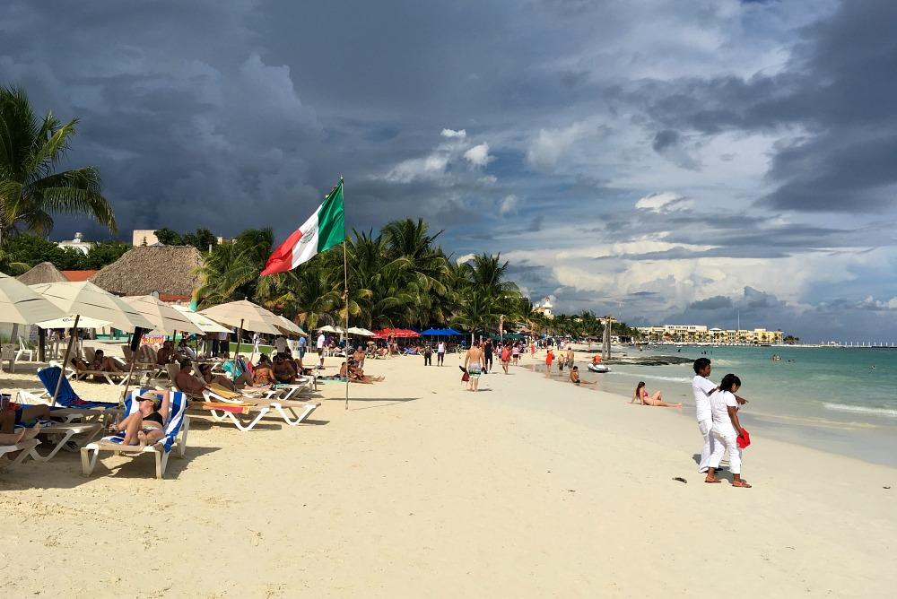 Strand von Playa del Carmen, Yucatan, Mexiko