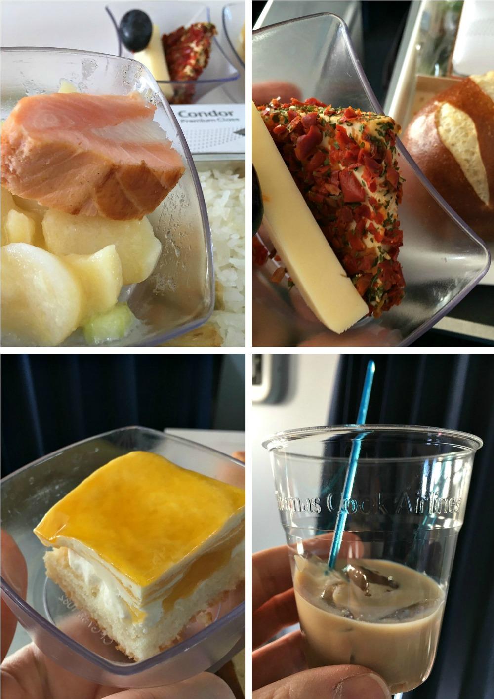 Premium Menü: Essen in der Condor Premium Class