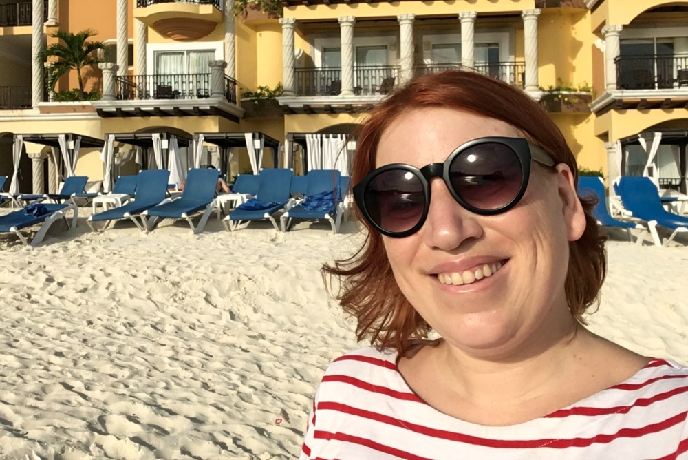 Reiseblogger Anja Beckmann in Playa del Carmen, Mexiko