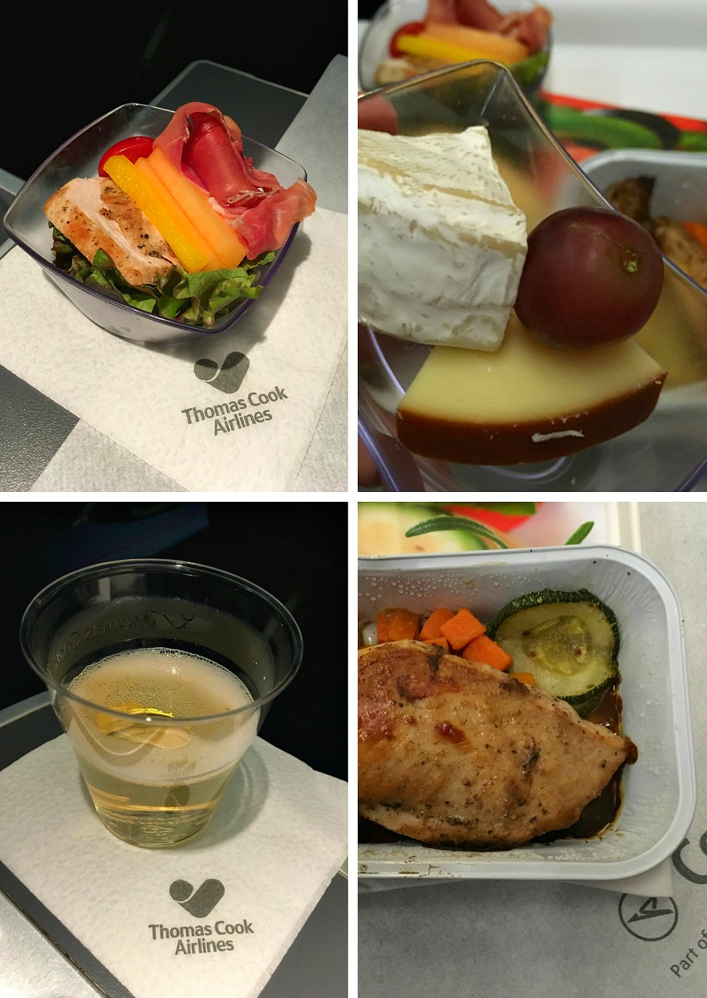 Essen in der Condor Business Class