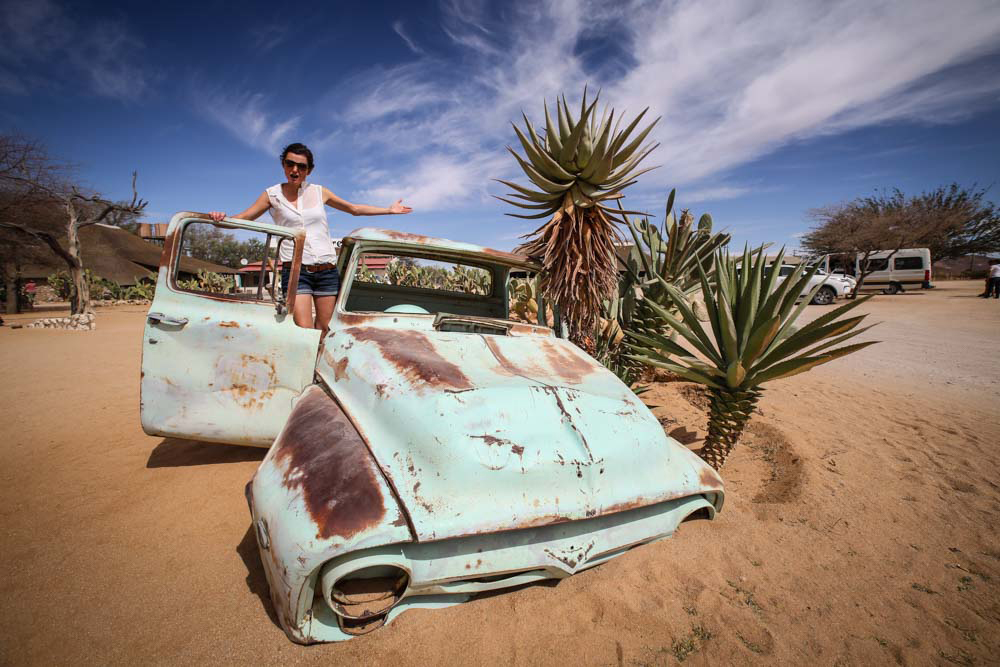 Autofriedhof in Namibia