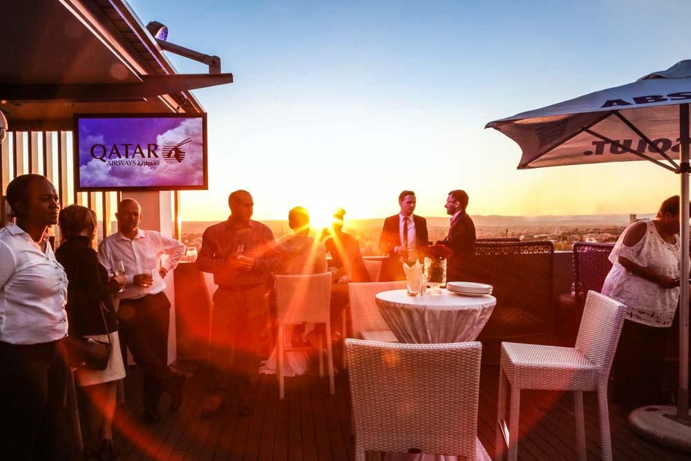 Sundowner im Hilton Windhoek