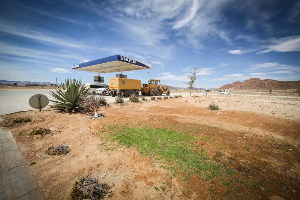 Tankstelle in Namibia