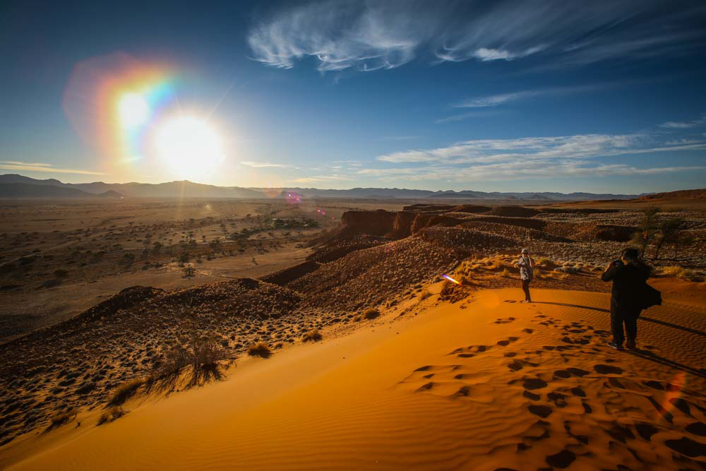Sonnenaufgang in der Namib Wüste