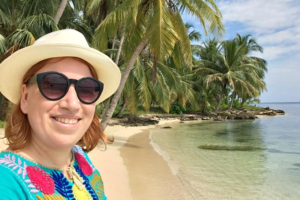 Reiseblogger Anja Beckmann auf den San Blas Inseln, Panama
