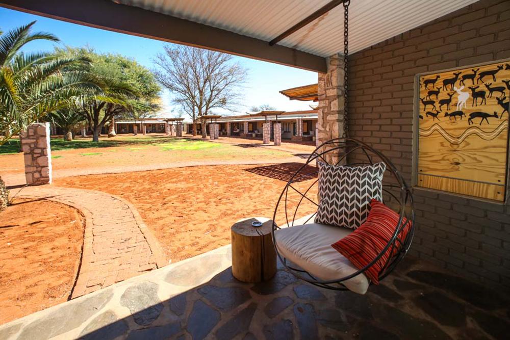 Hotel in der Kalahari Wüste, Namibia