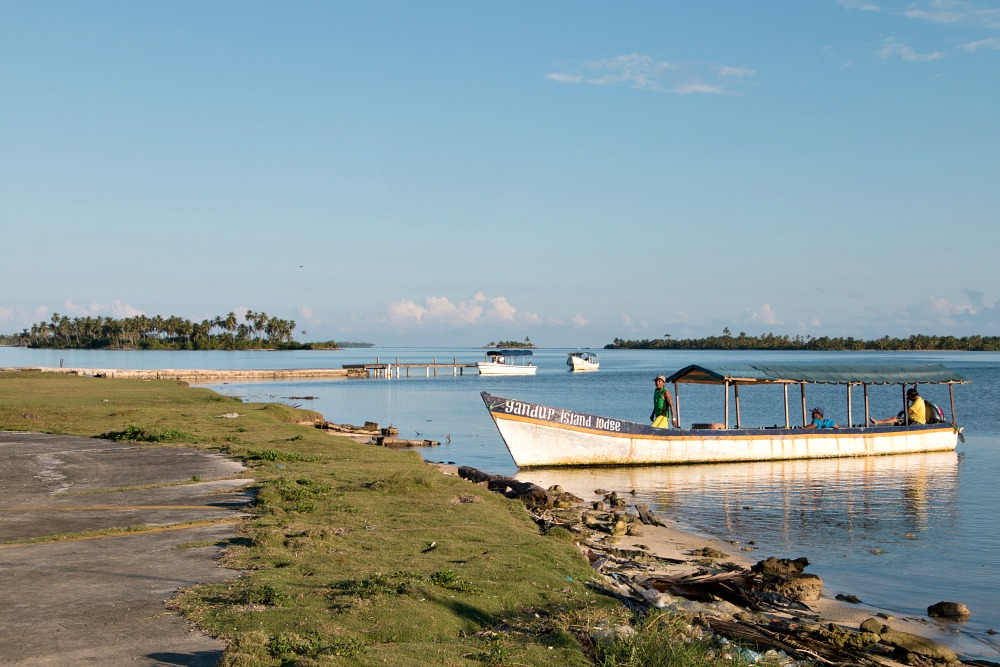 Boot bei den San Blas Inseln