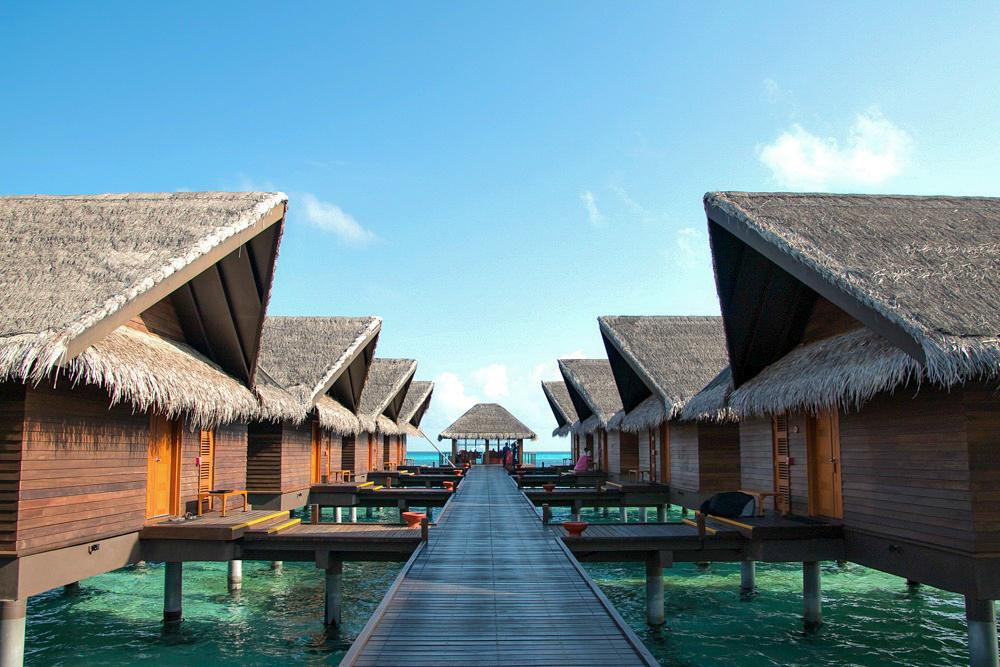 Überwasserbungalow auf den Malediven