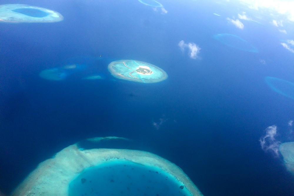 Blick auf die Malediven