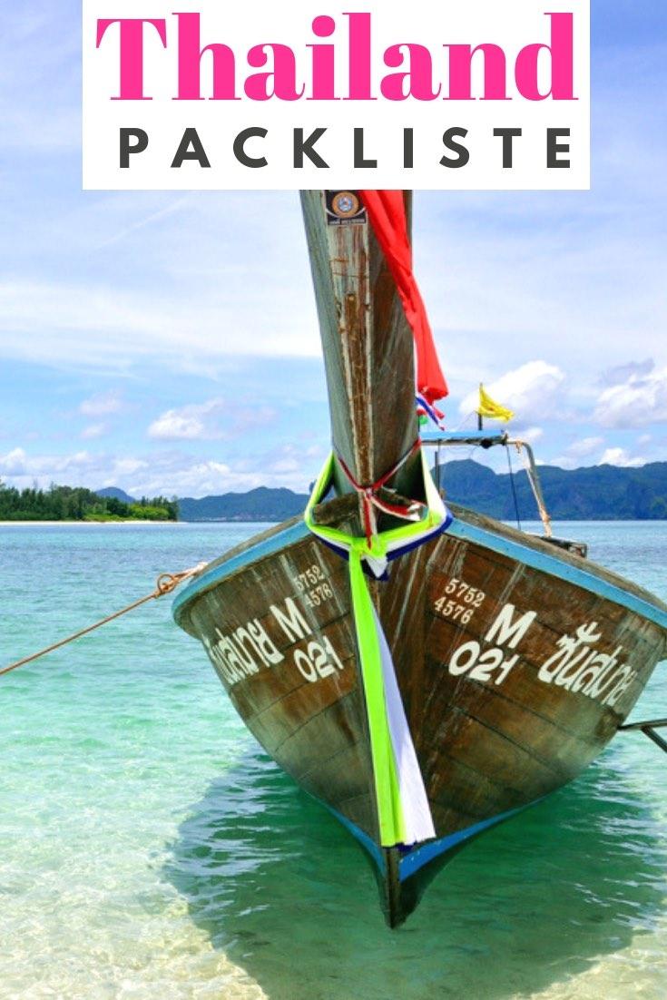 Die perfekte Packliste Urlaub für Thailand! Es ist eine Checkliste zum Ausdrucken und Abhaken: für Reisekleidung Flugzeug, Handgepäck, Koffer & Reiseapotheke. Hol dir die Reisecheckliste für deine Thailand Reise! #Thailand #Asien #Packliste #Checkliste #Urlaub