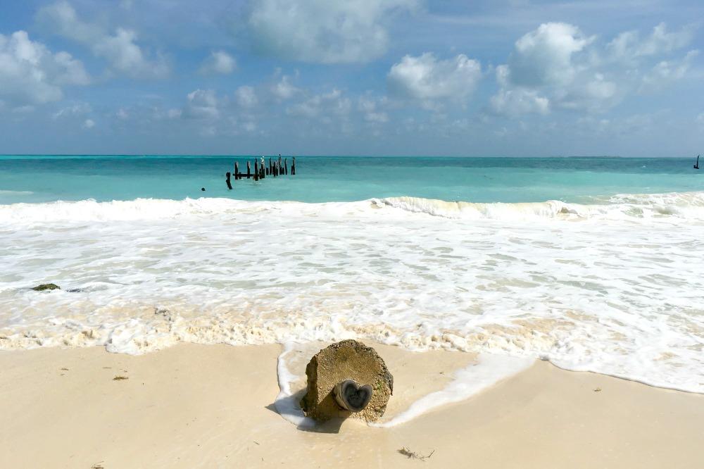 Strand von Isla Blanca in Mexiko