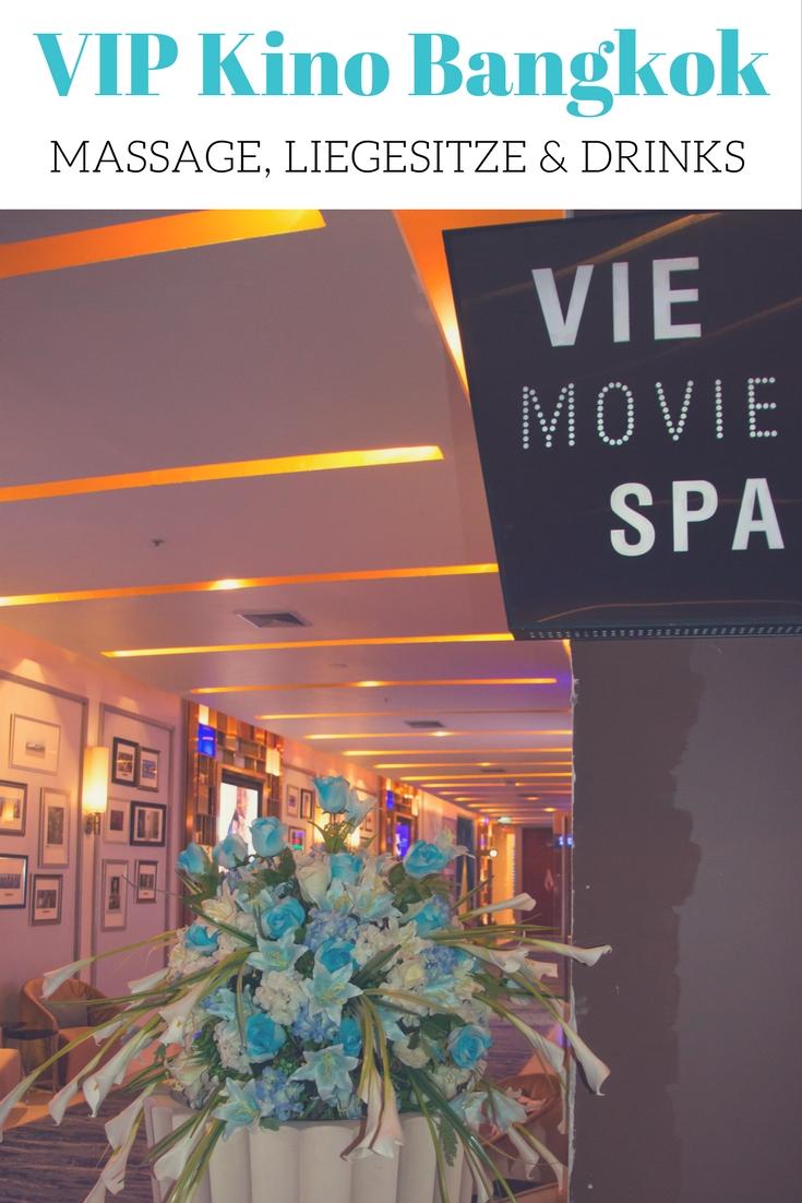 VIP Kino Bangkok: Im Paragon Cineplex mit Massage, Liegesitz & Drink. Mehr zum VIP Cinema in Thailand findet ihr im Reiseblog.