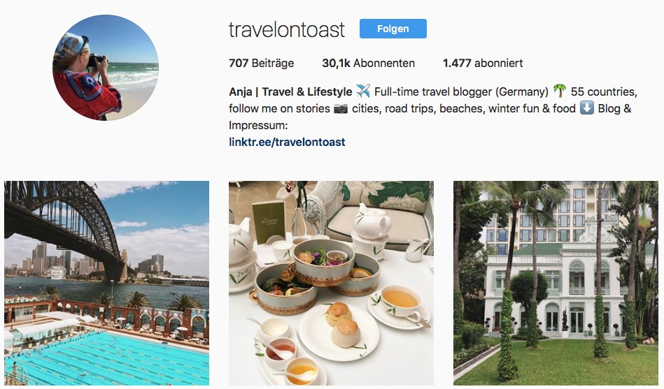 Reiseblogs auf Instagram: Travel on Toast