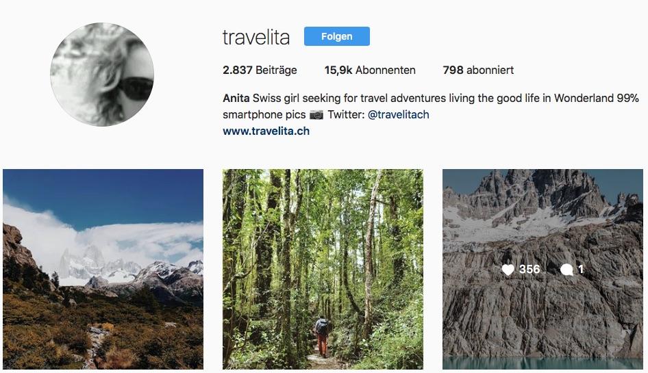 Reiseblogger auf Instagram