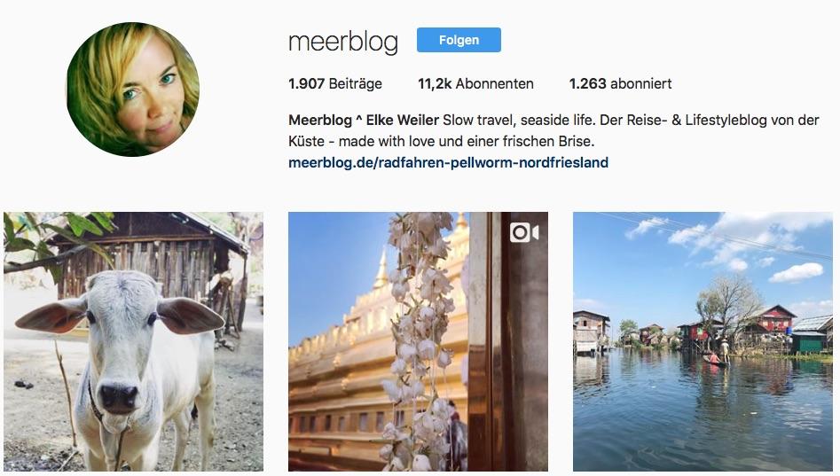 Reiseblogs auf Instagram