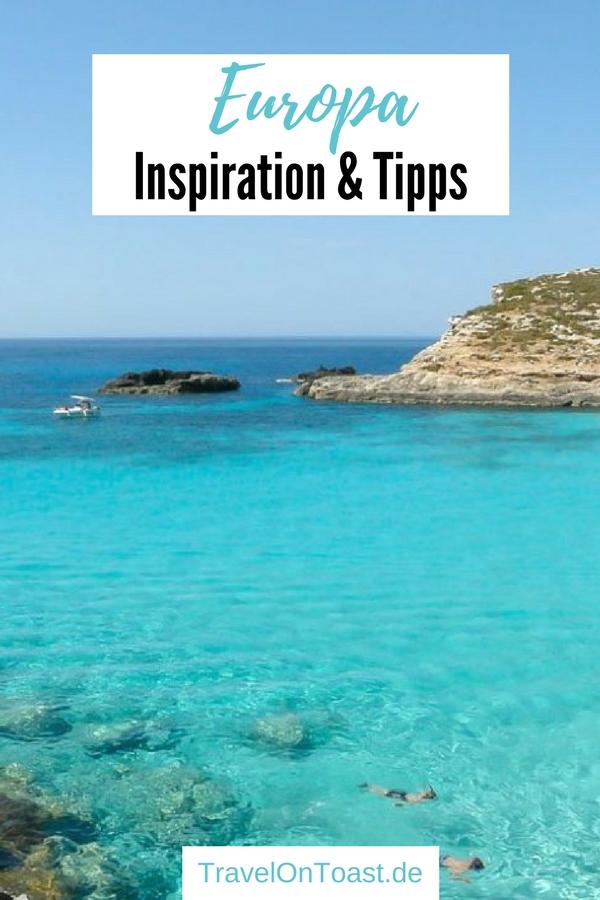 """Ob Griechenland, Spanien, Italien, Portugal oder Frankreich - es gibt so viele wunderschöne Reiseziele in Europa. Ob für den Strandurlaub, die Städtereise oder den Roadtrip.Im """"Reiseblog Europa"""" findet ihr eine Artikelsammlung - etwa zu den schönsten Sehenswürdigkeiten, zur Reiseplanung und die Packliste für euren Sommerurlaub. #Europa #Europareise #Europaurlaub #Reisetipps #Reiseplanung #Packliste"""