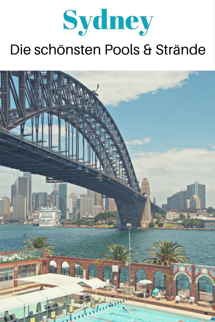 Die schönsten Pools und Strände in Sydney, Australien: Geheimtipps wie der North Sydney Olympic Pool und der Icebergs Felspool sowie Strand Klassiker wie Bondi Beach und Manly Beach