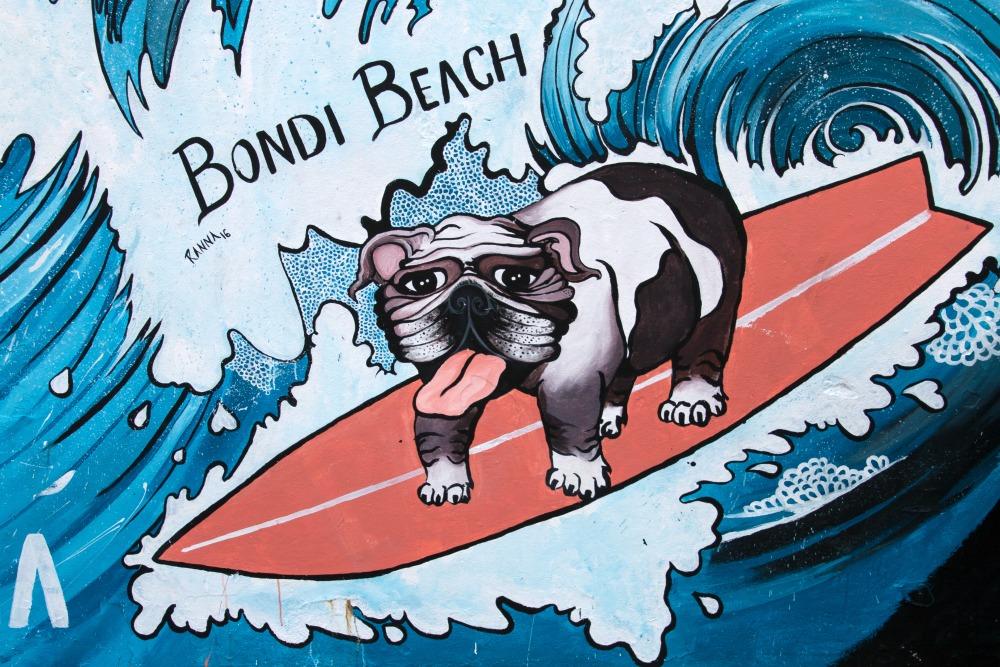 Streetart am Bondi Beach