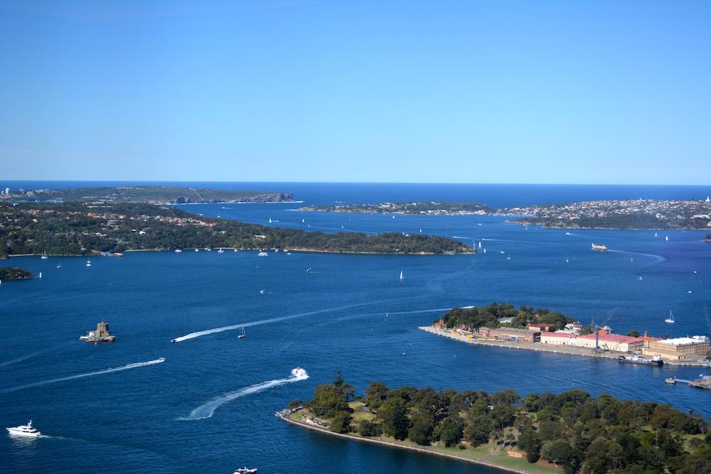 Blick von North Head auf Sydney, Australien