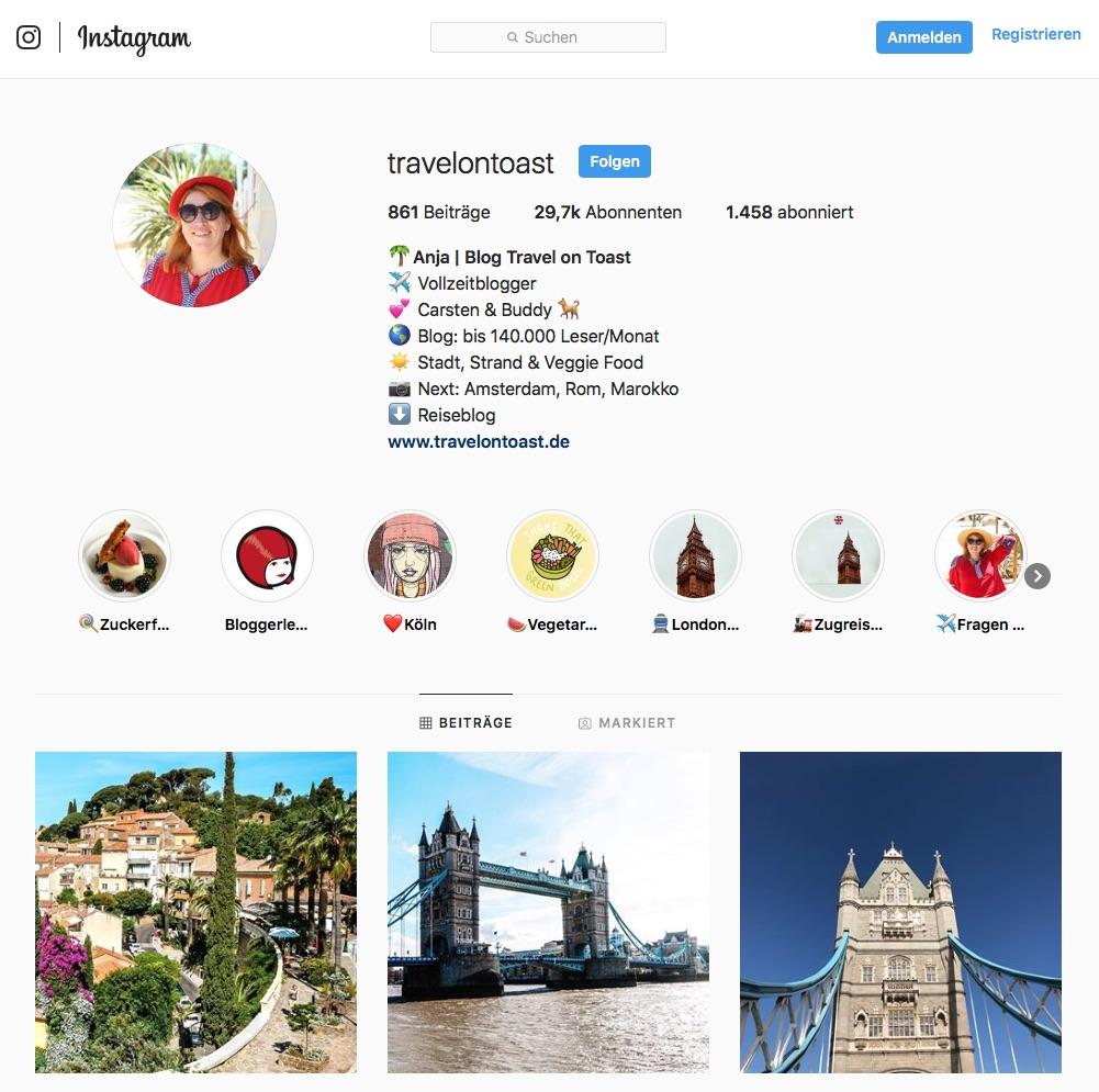 Reiseblog Instagram Reiseblogger Travel on Toast