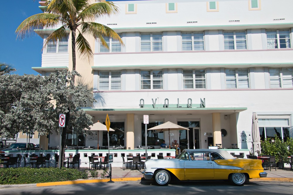 1 Florida Miami Beach South Beach Art Deco Hotel Avalon Oldtimer
