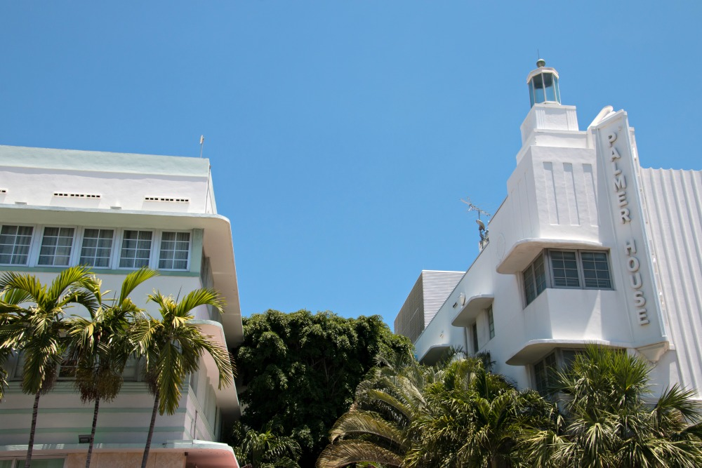 Art Deco Viertel in Miami Beach