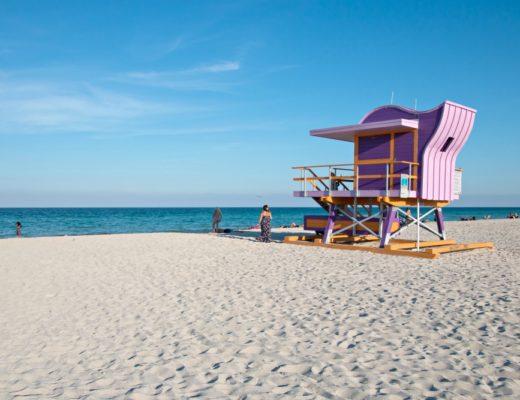 Miami Beach: Strand und bunte Hütten