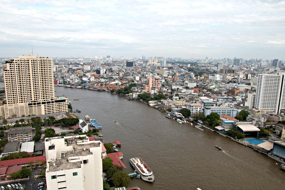 Ausblick auf den Fluss in Bangkok
