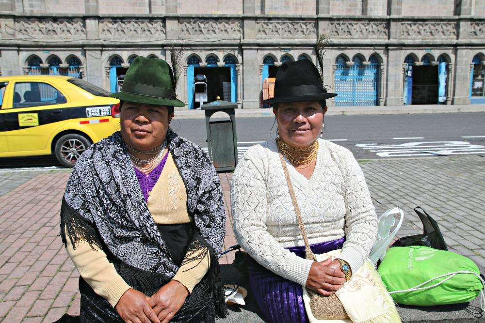 Einheimische in Quito